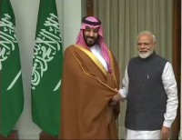 सऊदी युवराज सलमान की भारत यात्रा- आज पॉच समझौते होने की उम्मीद