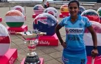 महिला हॉकी विश्व कप के कार्यक्रम में भारतीय राष्ट्रीय ध्वज से अशोक चक्र 'गायब'