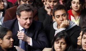 ब्रिटिश विश्वविद्द्यालयो मे पडने को इच्छुक भारतीय छात्रो के लिये वहा आने के लिये कोई सीमा नही-पूर्व ब्रिटिश प्रधानमंत्री कैमरन