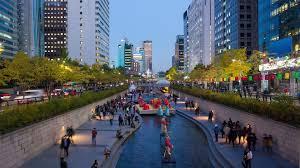 कोरिया की सूखी गंदी नहर, अब निर्मल जल से भरी, आस पास का तापमान भी हुआ कम