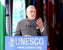 पेरिस: यूनेस्को मुख्यालय में प्रधानमंत्री मोदी का भाषण