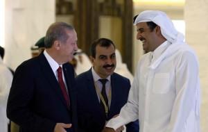 तुर्की के राष्ट्रपति ने कतर के शेख से मुलाकात की