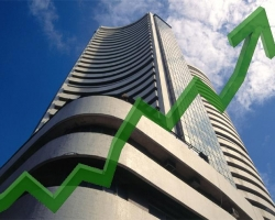 देश के शेयर बजार दिनभर के कारोबार के बाद तेज़ी पर बंद हुआ