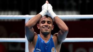 मुक्केबाज अमित पंघल का एशियाई खेलो में 'गोल्डन पंच'