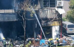 चीन की दुकान में विस्फोट से 2 लोगो की मौत