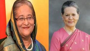 बांग्लादेश की प्रधानमंत्री शेख हसीना को सोनिया गांधी ने दी जीत की बधाई