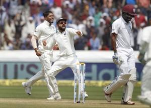 भारत ने दूसरे टेस्ट में वेस्टइंडीज को 10 विकेट से हराकर सीरीज 2-0 से जीती