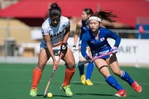 भारत और जापान के बीच महिला हॉकी एशिया कप सेमीफाइनल