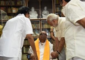 प्रधानमंत्री मोदी और राष्ट्रपति ने एम करुणानिधि के निधन पर जताया दुख
