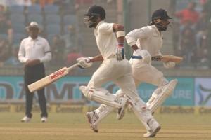 मुरली विजय ने दो झटको के बाद जड़ा अर्धशतक, भोजनकाल तक भारत ने बनाये 116/2 रन