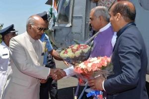 राष्ट्रपति कोविंद चार दिन के अवकाश पर शिमला पहुंचे