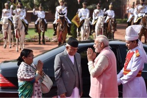 नेपाल के प्रधानमंत्री का औपचारिक स्वागत