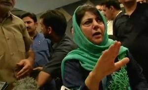 महबूबा ने कहा कश्मीर में जोर-जबरदस्ती की नीति कारगर नहीं होगी