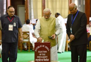 मोदी और शाह ने राष्ट्रपति चुनाव में वोट डाला