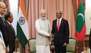मालदीव के राष्ट्रपति पहली विदेश यात्रा पर भारत पहुंचे