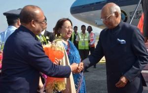 राष्ट्रपति कोविंद हड़ताल के बीच मणिपुर पहुंचे