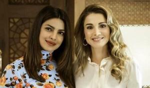 प्रियंका ने जॉर्डन की क्वीन रानिया से मुलाकात की