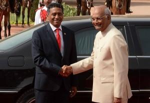 सेशेल्स के राष्ट्रपति का भारत में स्वागत