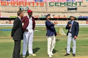 वेस्टइंडीज ने टॉस जीता, पहले बल्लेबाज़ी का निमंत्रण