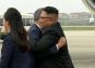 किम जोंग ने दक्षिण कोरिया के राष्ट्रपति लगाया गले